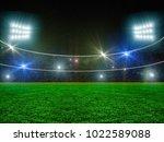 soccer stadium and beautiful... | Shutterstock . vector #1022589088