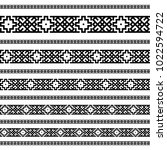 decoration patterns in black... | Shutterstock .eps vector #1022594722