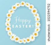 happy easter background with... | Shutterstock .eps vector #1022594752