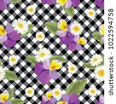 floral seamless pattern.... | Shutterstock .eps vector #1022594758