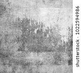grunge gray background with... | Shutterstock . vector #1022594986