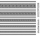 decoration patterns in black... | Shutterstock .eps vector #1022595208
