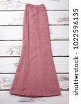 long vintage skirt  top view.... | Shutterstock . vector #1022596135
