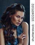studio portrait of young... | Shutterstock . vector #1022605102