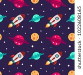seamless pattern on the theme... | Shutterstock .eps vector #1022608165