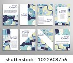 set of a4 cover  abstract... | Shutterstock .eps vector #1022608756