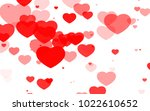 red and pink heart. valentine's ... | Shutterstock . vector #1022610652
