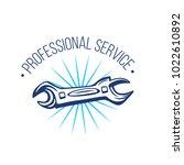 vector logo of repair service...   Shutterstock .eps vector #1022610892