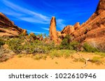 the natural beauty of arches... | Shutterstock . vector #1022610946