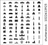 residence and building icons set   Shutterstock .eps vector #1022613925