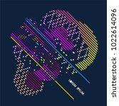 abstract vector background dot... | Shutterstock .eps vector #1022614096