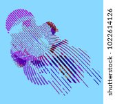 abstract vector background dot... | Shutterstock .eps vector #1022614126