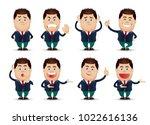 cute people   businessman set  | Shutterstock .eps vector #1022616136