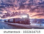 mocanita the steam train from... | Shutterstock . vector #1022616715