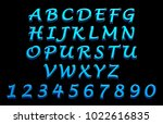 three dimensional fonts ... | Shutterstock . vector #1022616835