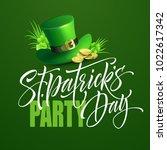 saint patricks day poster... | Shutterstock .eps vector #1022617342
