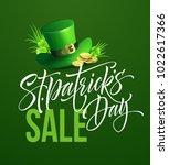 saint patricks day sale poster. ... | Shutterstock .eps vector #1022617366