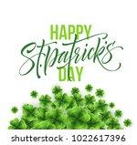 happy saint patricks day... | Shutterstock .eps vector #1022617396