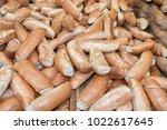 bread rolls in jerusalem market | Shutterstock . vector #1022617645