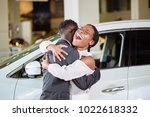 beautiful young african couple... | Shutterstock . vector #1022618332