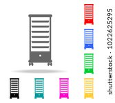 drawer storage trolley... | Shutterstock .eps vector #1022625295