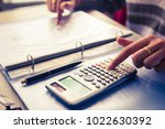 close up accountant or banker... | Shutterstock . vector #1022630392