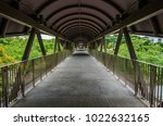 empty walkway of singapore | Shutterstock . vector #1022632165