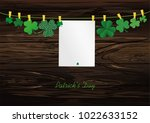 petals of clover with a picture ...   Shutterstock .eps vector #1022633152