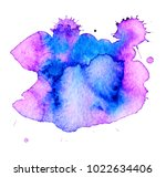 colorful abstract watercolor... | Shutterstock .eps vector #1022634406