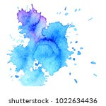 colorful abstract watercolor... | Shutterstock .eps vector #1022634436