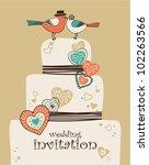 wedding invitation | Shutterstock .eps vector #102263566