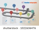 business road map timeline... | Shutterstock .eps vector #1022636476