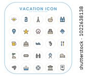 vacation icons 01 | Shutterstock .eps vector #1022638138