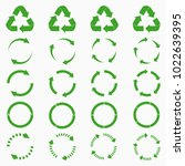 round arrows set. green circle... | Shutterstock .eps vector #1022639395