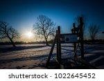 sunny winter landscape   Shutterstock . vector #1022645452