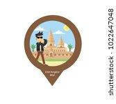 rocker visit angkor wat pin map | Shutterstock .eps vector #1022647048