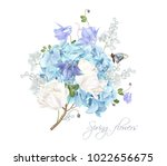 vector composition with blue... | Shutterstock .eps vector #1022656675