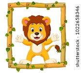 vector illustration of lion on...   Shutterstock .eps vector #1022658346