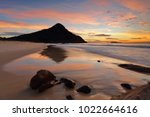 zenith beach and reflections in ...   Shutterstock . vector #1022664616