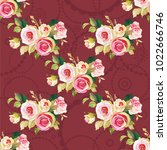 seamless floral pattern with... | Shutterstock .eps vector #1022666746