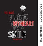 typography slogan with rose... | Shutterstock .eps vector #1022667016
