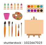 painting  tools elements... | Shutterstock .eps vector #1022667025