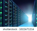 3d illustration of server... | Shutterstock . vector #1022671216