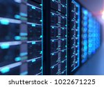 3d illustration of server... | Shutterstock . vector #1022671225