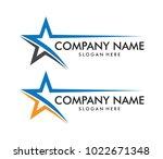 vector logo design of star ... | Shutterstock .eps vector #1022671348