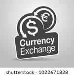 signage design for modern... | Shutterstock .eps vector #1022671828