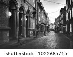 cambridge street view in black... | Shutterstock . vector #1022685715