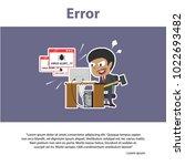 african businessman error... | Shutterstock .eps vector #1022693482