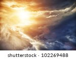 beautiful sky. | Shutterstock . vector #102269488