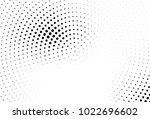 abstract monochrome halftone... | Shutterstock .eps vector #1022696602